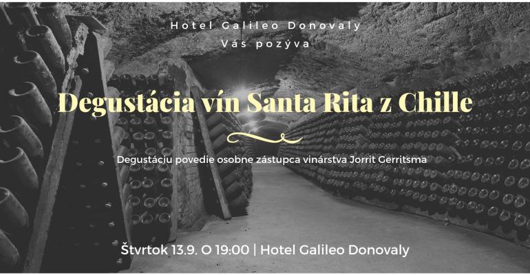 Wine tasting of Chilean winery Santa Rita